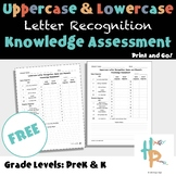 Uppercase & Lowercase Letter Recognition Knowledge Assessment