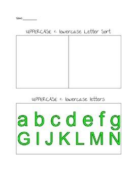 Uppercase & Lowercase Letter Sort
