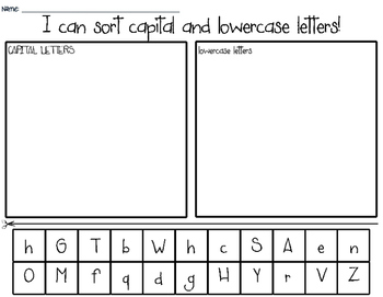 graphic regarding Upper and Lowercase Letters Printable identify Uppercase And Lowercase Letter Style Worksheets Schooling