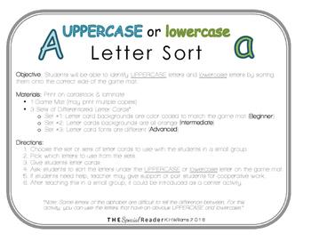 Uppercase & Lowercase Letter Sort (3 Levels)