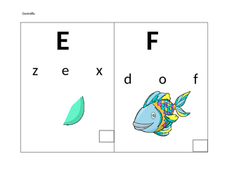 Uppercase - Lowercase - Letter Sound Practice Cards