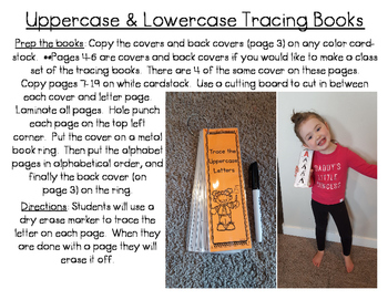 Uppercase & Lowercase Letter Tracing Books