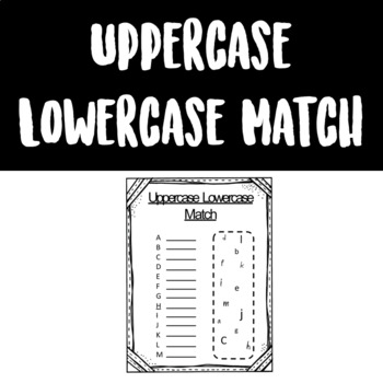 Uppercase Lowercase Match