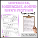 Uppercase, Lowercase, Sound Letter Identification Assessment