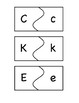 Uppercase/Lowercase and Beginning Sound Match Puzzles (Jolly Phonics Aligned)