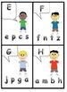 Uppercase Lowercase matching center kindergarten first grade