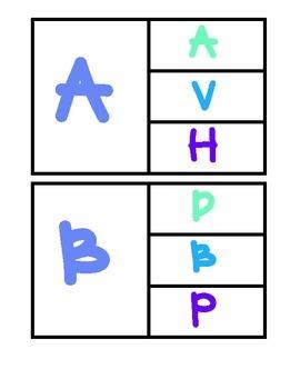 A-Z Uppercase Match Up Clip Cards