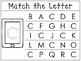 Uppercase Match the Letter Worksheets/Work Mats. Preschool-Kindergarten Phonics