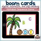 Uppercase Missing Letter Sequencing Game | BOOM Cards | Distance Learning