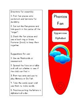 Uppercase Phonics Fan