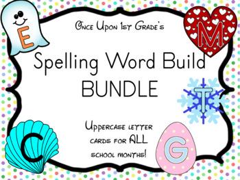 Uppercase Spelling Word Build Word Work BUNDLE