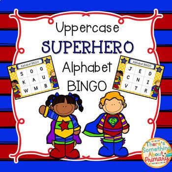 Uppercase Superhero Alphabet Bingo