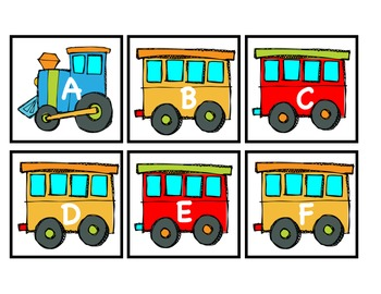 Uppercase Train Alphabet