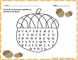 Uppercase and Lower Case Vowel  Acorn Search/ letter ID