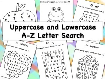 Uppercase and Lowercase A-Z Letter Search Bundle