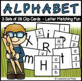 Uppercase and Lowercase Alphabet Discrimination Clip Cards