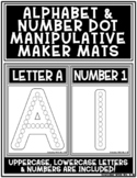 Alphabet Uppercase, Lowercase Letters and Numbers Dot Make