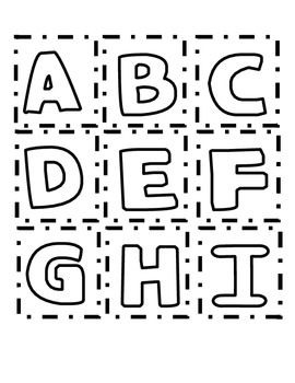 Uppercase and Lowercase Alphabet Letter Cards