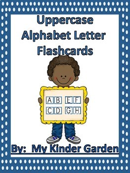 Uppercase and Lowercase Alphabet Letter Flashcards Blue Dot