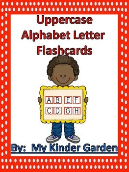 Uppercase and Lowercase Alphabet Letter Flashcards Red Dot