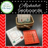 Uppercase and Lowercase Alphabet Letter Geoboard Cards