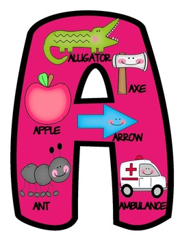 Uppercase and Lowercase Alphabet Letter Posters Anchor Chart Printables