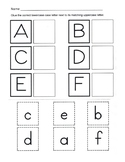 Alphabet Recognition / Uppercase and Lowercase Alphabet Matching Worksheets