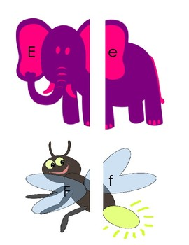 Uppercase and Lowercase Alphabet Matching Puzzles