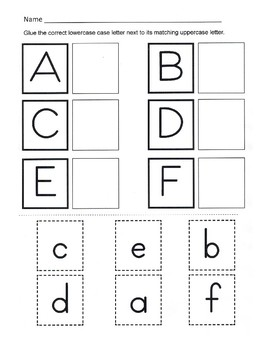 Alphabet Recognition / Uppercase and Lowercase... by Kelly Connors ...