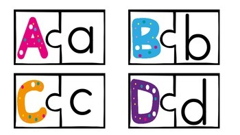 Uppercase and Lowercase Alphabet Puzzles