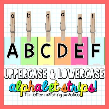 Uppercase and Lowercase Alphabet Strips