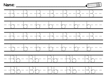 Uppercase and Lowercase Alphabet Trace