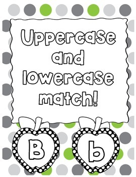 Uppercase and Lowercase Apple Match
