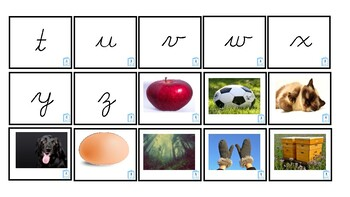 Uppercase and Lowercase Cards - Dnealian Cursive