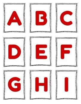 Uppercase and Lowercase Flashcards Freebie!