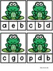 Uppercase and Lowercase Frog Matching Activity