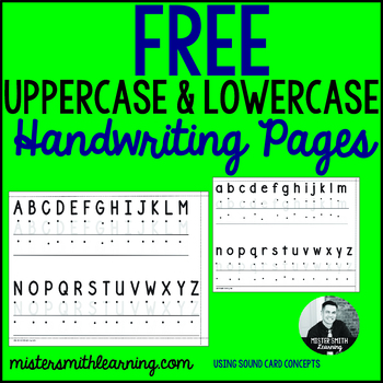 Free Uppercase and Lowercase Handwriting Pages