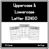 Uppercase and Lowercase Letter BINGO