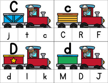 Uppercase and Lowercase Letter Match Clip Cards Center