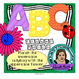 Uppercase and Lowercase Letter Match - Flower and Ladybug File Folder Activity