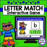 Uppercase and Lowercase Letter Match Game for PowerPoint