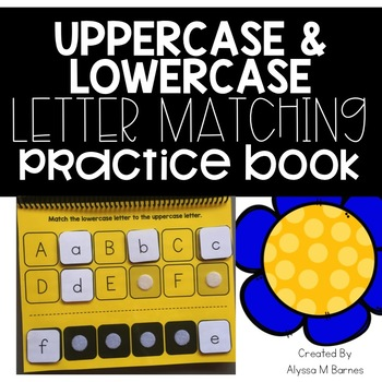 Uppercase and Lowercase Letter Match Practice Book