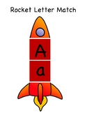Uppercase and Lowercase Letter Match Rocket Ship