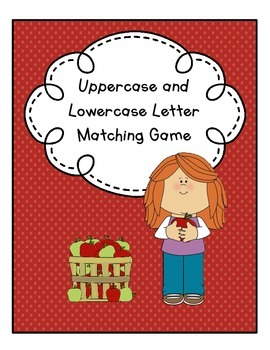 Uppercase and Lowercase Letter Matching File Folder Game