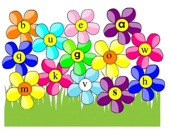 Uppercase and Lowercase Letter Matching - Flowers