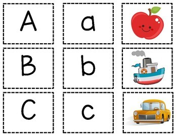 photograph regarding Printable Match Game named Uppercase and Lowercase Letter Matching Sport Printable Lesson Application