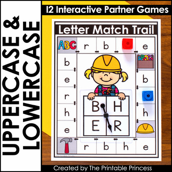 photo relating to Letter Recognition Games Printable known as Uppercase and Lowercase Letter Matching Video games