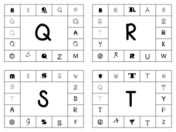 Uppercase and Lowercase Letter Punch