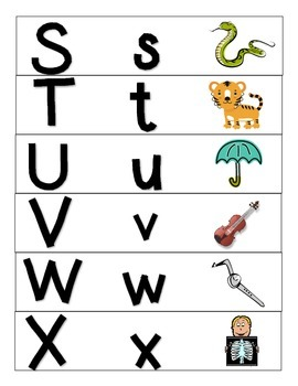 Uppercase and Lowercase Letter Puzzle