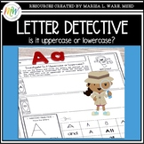Uppercase and Lowercase Letter Recognition Activity